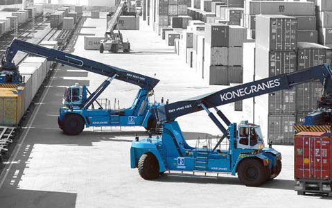 konecranes reach stacker forklift