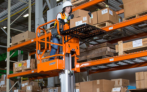aerial lift warehouse solution