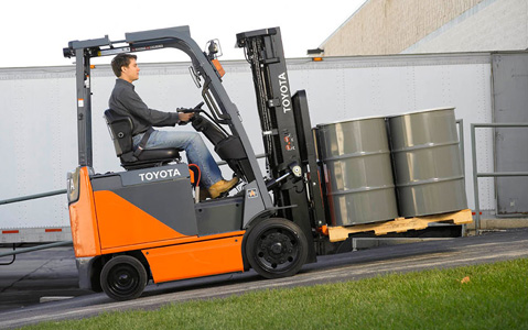 toyota forklift oil gas industry