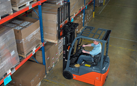toyota forklift warehouse