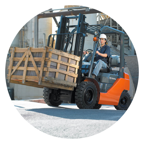 toyota pneumatic forklift